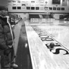 1/23/97--WINN/ARENA--CAPPYM PHOTO--TIMM WINN LO0KS OUT ON AN EMPTY RIELLY CENTER.<br />  <br /> SP