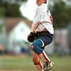98/06/04 NT Base Ball-Rachel Naber Photo-North Tonawanda pitcher Melissa Burgasser with the wind up.