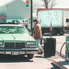 4/1/97 Reservation Taxes - James Neiss Photo - Hubert Swanson, right, asks a customer how much gas he wants at Pattersons Tuscarora Trading Post on Upper MT. Road. 298-5379 Office.<br /> <br /> Tuscarora Indian Reservation Spot News