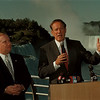 98/09/10 Pataki  Galie 3  - James Neiss Photo - Crossing party lines, Niagara Falls Mayor James C. Galie endorses Governer George E. Pataki during a press conference at the Prospect Point.