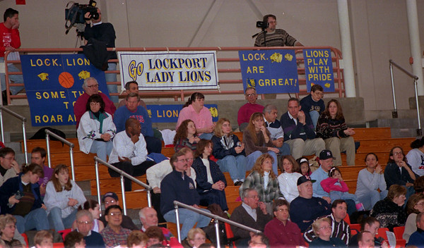 98/03/14 Supportive Fans *Dennis Stierer photo - Saturday's Girls basketball game at BU came with many fans and support for their team.