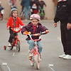 5/17/97-- bike rodeo--Takaaki Iwabu photo-- Bethany Blake, 6, leads the line of bicycle riders as they participate in Saturday's bike rodeo in Town of Niagara. <br /> <br /> tmc photo