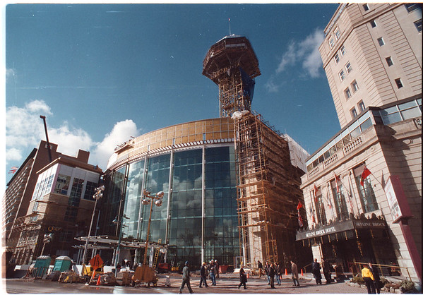 11/13/96 Casino Niagara Exterior - James Neiss Photo - Getting ready for opening day.