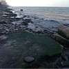 98/12/04 Lake Low *Dennis Stierer Photo <br /> With the water so low on Lake Ontario, many of these rocks and coastline are now exposed.  Normally these rocks would be totally covered by water.