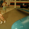 98/05/17--aircraft museum--Takaaki Iwabu photo-- Christin Kuklis, 2, runs around inside the Aircraft Museum which opened Friday at Summit Park Mall. <br /> <br /> tmc photo
