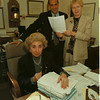 98/10/05 Koshian - James Neiss Photo - L-R - Jacqueline M. Koshian, Supreme Court Justice, Martin P. Violante, Confidential Law Clerk and Norma Higgs, Secritary to the Justice.