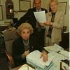 98/10/05 Koshian - James Neiss Photo - L-R - Jacqueline M. Koshian, Supreme Court Justice, Martin P. Violante, Confidential Law Clerk and Norma Higgs, Secritary to the Justice.