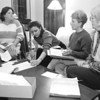 1/27/97-THE MEETING--DAN CAPPELLAZZO PHOTO--(LTOR)BETSY DIACHUN, HABITAT BOARD PRES, BARBARA CARTER, BPW-NIAGARA TREASURER, PAST PRES. CAROLYN VAN SCHAIK, V.P. HABITAT & CO-CHIAR AND KATHY DENMAN, BPW BOARD OF DIR, PAST PRES AND CO-CHAIR MEET MONDAY EVENING TO DISCUSS THINGS.<br /> <br /> LOCAL