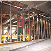 98/05/11 Public Safety Building *Dennis Stierer Photo - Larry Hulo of M&C Construction work on installing the new walls inside the Orleans County Public Safety Building in Albion.