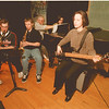 98/03/17 Jazz Concert - James Neiss Photo - Niagara Wheatfield Jazz Ensemble to preform concert at 7pm on March 19, 1998. L-R - Practicing for the event are Paul Bruso 16/11, Brian Trevo 17/11, Jack Lis band director, Kim Speiran 17/12 and Elizabeth Freas 16/11.
