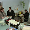 98/02/05 Maziarz's Office *Dennis Stierer photo - Office workers at Sen. George Maziarz's office from left they are Maureen Ormsby, Gina Marie Gullo, and Chris Decent.