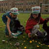 98/05/02 Kids Picking up - James Neiss Photo - L-R - Joseph Apolito 9yrs and Melissa Apolito 11yrs, clean up the Anna Merritt School Grounds in Lockport. Clean up efforts touched other areas of the city and county including Wide Waters Park along the canal.