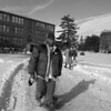 1/23/97--WINN/CAMPUS--CAPPY PHOTO--WINN WALKS THROUGH THE BONNA CAMPUS.
