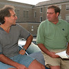 98/09/02 Reminiscing *Dennis Stierer Photo -<br /> Joe Giansante and David Farrugia reminisce about DeSales where they went during it's high school days.