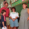 98/09/02 Meeting The Teacher *Dennis Stierer Photo -<br /> It's always a little nervous to meet your new school teacher, but Matt Ferguson,11, now a 5th grader at DeSales Catholic School , just takes it in stride. His dad and mom, Clyde and Priscilla Ferguson help to break the ice as his new teacher Mrs. Michelle Pietak has a welcoming smile.
