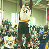 3/10/96--HOOPS/ACTION--TAKAAKI IWABU--LASALLE'S ROB GAYLE GO FOR THE DUNK IN 3RD QUARTER ACTION AS TEAMATE MIKE PARMER AND EAST HIGH'S MARK TISDALE LOOK ON.<br /> <br /> SPORTS FOLDER