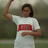 98/05/05- Faith Thompson--Takaaki Iwabu Photo -- Faith Thompson of Niagara Falls High School broke the school record (renewed her own record) last week in the shot put.