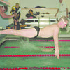 1/22/97-- NU swim--Takaaki Iwabu photo-- Mike McNelis of Niagara University dives into a water as he competes in 200 medley relay during the meeting with Canisius.... <br /> <br /> sports Thursday
