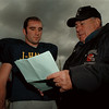 98/11/04 Herman & Cacciatore - James Neiss Photo - Niagara Wheatfield Quarter Back Jason Herman and Head Football Coach Armand Cacciatore.