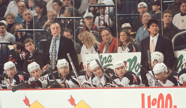 3/20/97--SABRES BENCH--DAN CAPPELLAZZO PHOTO--THE SABRES BENCH AGAINST BOSTON 3/17.<br /> <br /> SPORTS