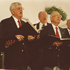 5/29/97 -- chorus -- Takaaki Iwabu photo --Members of Retired Men's Chorus perform their numbers for the senior citizens at HANCI on Main Street. <br /> <br /> tmc photo