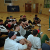 98/04/01--NF HIGH BASEBALL/COACH--DAN CAPPELLAZZO PHOTO--NF HIGH BASEBALL COACH _______________ GOES OVER THE FINER POINTS OF THE GAME IN PREPATION FOR THE SEASON.<br /> <br /> SPORTS