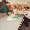 2/21/97 Boces Counceling - James Neiss Photo - Niagara Wheatfield School Counselor George Brown councils students interested in courses at Boces. L-R are, Carrie Newman 16/11, Erin Marohn 15/10th and Dan Peters 17/11.