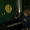 98/01/22 Carol Maham 1*Dennis Stierer photo - Carol Maham washes trucks at Hartland Public Works.