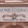7/15/97 St. Mary Sign - James Neiss Photo - St. Mary of the Cataract Roman catholic Church sign. 150 years.