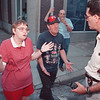 7/1/97--ARMED STANDOFF--DAN CAPPELLAZZO PHOTO--PATRICIA AND ROBERT HOCHADEL EXPLAIN THEIR SON TOBI'S VIOLENT BEHAVIOR ON THE CORNER OF 3RD AND FERRY TO AN NF POLICE DETECTIVE. THEIR SON TOBI WAS BELEIEVED TO BE IN THEIR HOME AT 318 FERRY WITH GUNS.<br /> <br /> 1A NEWS
