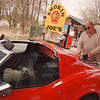 "5/18/97--INDIAN GAS/JOES--DAN CAPPELLAZZO PHOTO--HUBERT GEE, OF NF FILLS UP HIS 74 VETT AT SMOKOIN' JOES ON INDIAND HILL RD SUNDAY AFTERNOON. GEE, A LONGTIME CUSTOMER SAID: "" IT'S A SHAME WHAT'S GOING ON, IF THE STATE WANTS TO GET INVOLVED THEY SHOULD HAVE ONE LANE FOR NATIVE AMERICANS AND ONE FOR NON NATIVES.""<br /> <br /> 1A NEWS"