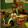 98/12/04 Reading Program 4 - James Neiss Photo - Carrie Cino, Multi Age Teacher, sounds out the words with the students during a reading lesson.