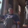 98/12/02 Ed Zolyome - Vino Wong Photo - Ed Zolyome of 4089 Johnson Road, created a metal sculptor of Sister Mary Loretto at his home, Town of Lockport.