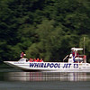 6/24/97--JET BOAT 2--DAN CAPPELLAZZO PHOTO--THE WHIRLPOOL JET BOAT SPEEDS UP THE LOWER RIVER ON IT'S MAIDEN U.S. VOYAGE IN FRONT OF THE THE LEWISTON DOCKS.<br /> <br /> 1A NEWS