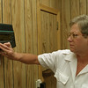 98/07/24 New Phone Answering *Dennis Stierer Photo -<br /> Police secretary, Peg Overholt checks out any new messages that might have come in. The Police station has installed a new answering system that will allow callers to leave messages to certain people after hours and when those are out on duty.