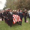 6/2/97 Browne Funeral - James Neiss Photo - Pall berrars carry the casket of Major Michel J. Browne to his final resting place just outside of the War of 1812 Grave Yard at Fort Niagara, Browne is a former resident  of Youngstown who died <br /> in a marine Helicopter crash.