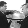 1/15/97 Irish Ambassador Falls - James Neiss Photo - Parks Director Edward Rutkowski  gives the Irish Ambassador Dermot Gallagher a tour of the falls with a view from the Prospect Point observation tower.
