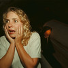 98/10/07 Haunted Cave 2- James Neiss Photo - Actress Brandi Page of Buffalo hams it up for the camera at the Lockport Haunted Cave. She will be playing the wicked witch.