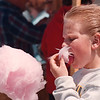 5/26/97--WILSON FESTIVAL--DAN CAPPELLAZZO PHOTO--10-YR-OLD DEWEY WATSON, OF LOCKPORT, ENJOYS A HEEPING HELPING OF COTTON CANDY AT THE WISLON MEMORIAL DAY FESTIVAL.<br /> <br /> LOCAL