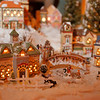 98/12/03 Cameo Inn 5 - Vino Wong Photo - Miniature Christmas houses can be seen in the living room.