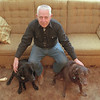 98/12/08 William D. Tolhurst - Vino Wong Photo - William Tolhurst poses with his labs Candy and Tipper at his home 383 Willow Street.