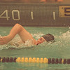 9/18/97--SWIMMING--DAN CAPPELLAZZO PHOTO--LASALLE JR. AMANDA DOBRASZ SWIMS THE 200 FREESTYLE DURING A MEET AGAINST LOCKPORT AT LASALLE HIGH.<br /> <br /> SP