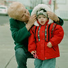 98/12/07 Cold Weather Coming *Dennis Stierer Photo<br /> Rose Santarosa stops to adjust the hood of her grandaughter, Alessandra Santarosa, 2 as the weather is starting to turn colder. They were out for an afternoon walk down Pine Ave.