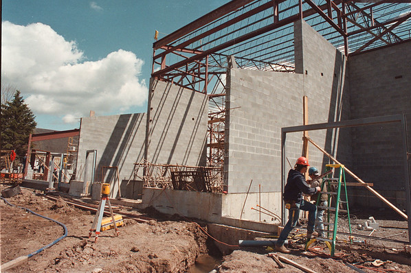 5/21/97-- new hangar --Takaaki Iwabu photo-- Niagara Falls Air Base will have a new hangar for air craft restore this summer. (Photo for a story on possible base closure in 1999.)<br /> <br /> 1A, advanced. Look Sunday folder.