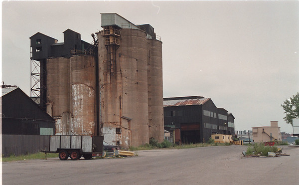 "7/1/97 New Steel Plant - James Neiss Photo -  This site on Acheson Place near corner of  Buffalo Ave is site of future ""Williams Specialty Steel"" plant.  (may or may not include tall structure in photo)"
