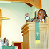 98/08/16 SHARPTON #1 *Dennis Stierer Photo -<br /> Rev. Al Sharpton during a serman at St. JohnÕs African Methodist Episcopal Church Sunday at noon.