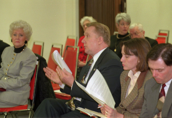 97/01/05 Merger Meeting - James Neiss Photo - Health System of Niagara, INC. meeting with local officials. Here, Mayor Galie speaks out about services beign taken away from memorial Medical.
