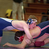 98/02/05 Wrestling *Dennis Stierer photo - Chad Hintz of the Lockport Lions wrestles Ken Hawley of N. Tonawanda in Wed. nights match in the 171# class.