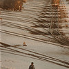 97/11/18--a railway worker--Takaaki Iwabu photo-- A railway worker walks across the railway track near (Amtrack's) Niagara Falls station on Lockport Rd Tuesday.<br /> <br /> Grapevine photo