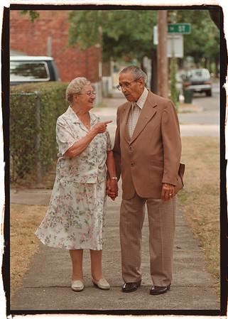 97/08/11 Special Italians - James Neiss Photo - Frances Licata and Louis R. Casale, Pine Ave. Italian festival Special Italian Citizens.